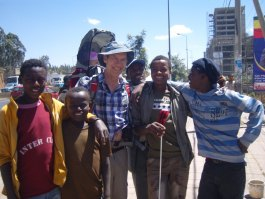 Kevin Morley and young Eritreans
